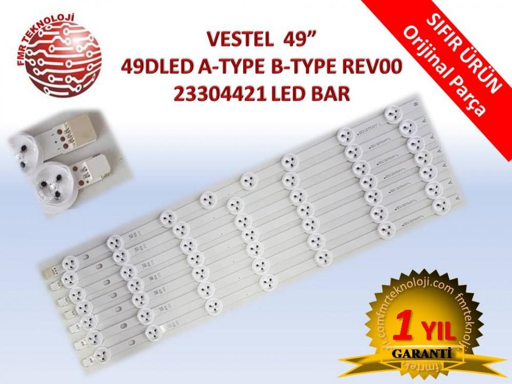ORJİNAL VESTEL 49DLED A-TYPE B-TYPE REV00 LED BAR