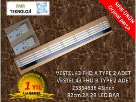 ORJINAL VESTEL 43FB5000 43FA7000 43FB7400 43FD7300 43FA7300  V23354638 43 FHD A-B TYPE  LED BAR