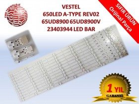 ORJINAL VESTEL 650LED A-TYPE REV02 65UD8900 65UD8900V V23403944 LED BAR