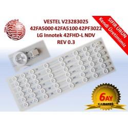 VESTEL 42FA5000 42FA5100 42PF3022 LED BAR V23283025 LG Innotek 42FHD-L NDV REV 0.3
