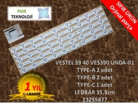 ORJİNAL VESTEL 39PF5025D 39PF8025D LED BAR VES390 UNDA-01 TYPE-A TYPE-B TYPE-C V23255877 V23283022